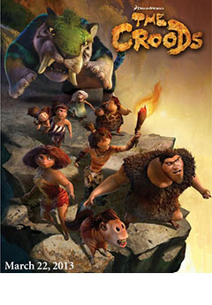 Primer cartel THE CROODS