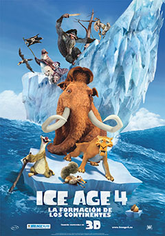 Cartel Ice age4: La formacin de los Continentes