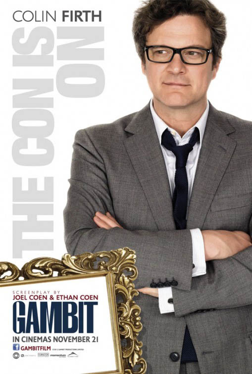 Cartel Colin Firth en Gambit