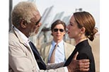 Foto Rebecca Hall y Morgan Freeman en Transcendence